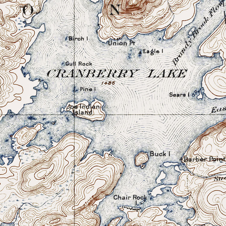 Cranberry Lake, NY - 1921 Topographic Map