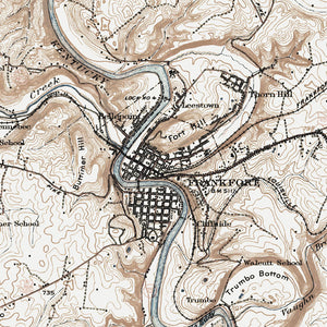Frankfort, KY - 1924 Topographic Map