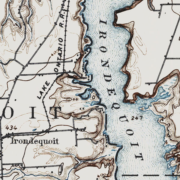 Irondequoit Bay, NY - 1895 Topographic Map