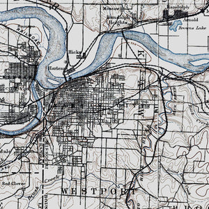Kansas City, MO - 1890 Topographic Map