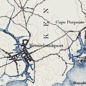 Kennebunkport, ME - 1893 Topographic Map