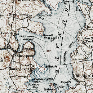 Lake Sunapee, NH - 1905 Topographic Map