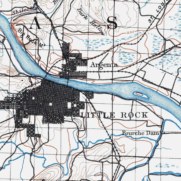 Little Rock, AR - 1891 Topographic Map