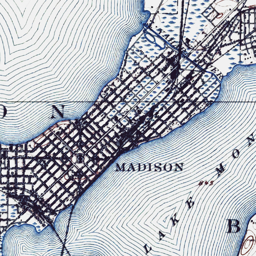 Madison, WI - 1906 Topographic Map