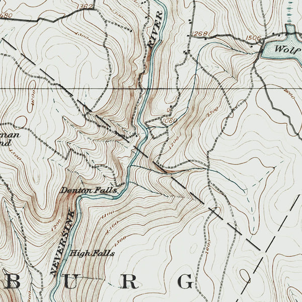 Neversink River, NY - 1909 Topographic Map