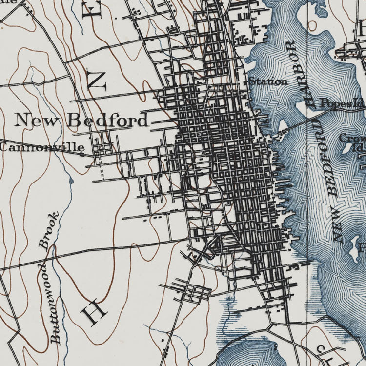 New Bedford, MA - 1893 Topographic Map
