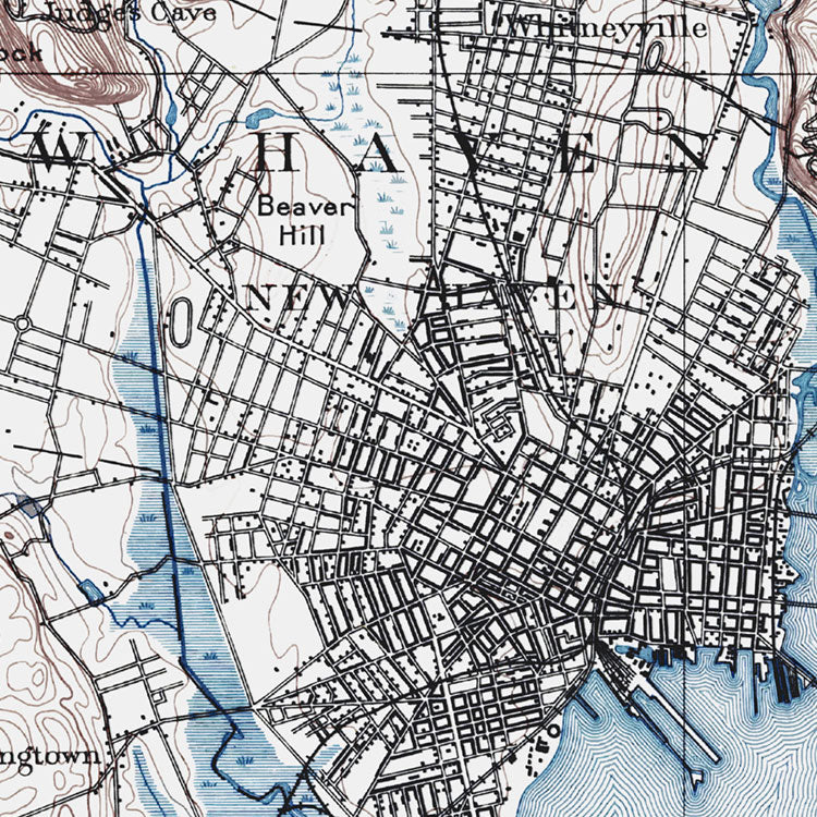 New Haven, CT - 1892 Topographic Map