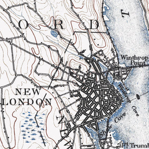 New London, CT - 1893 Topographic Map