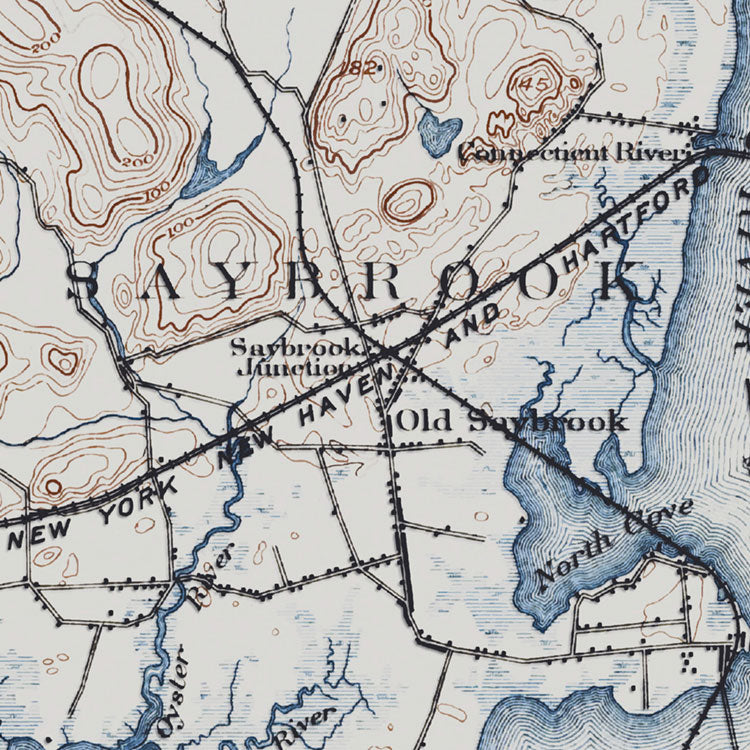 Old Saybrook, CT - 1893 Topographic Map