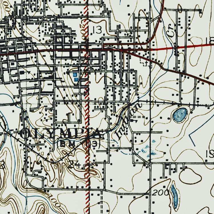 Olympia, WA - 1937 Topographic Map