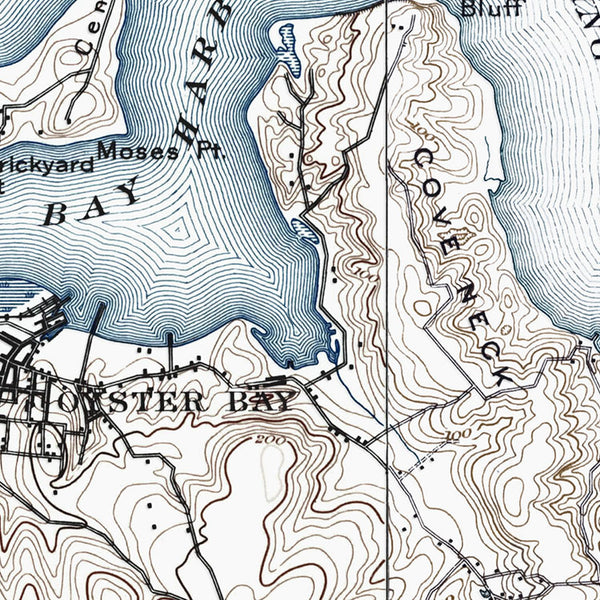 Oyster Bay, NY - 1897 Topographic Map