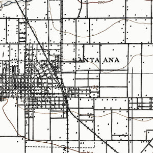 Santa Ana, CA - 1901 Topographic Map