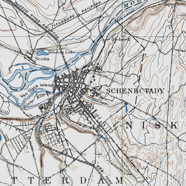 Schenectady, NY - 1895 Topographic Map