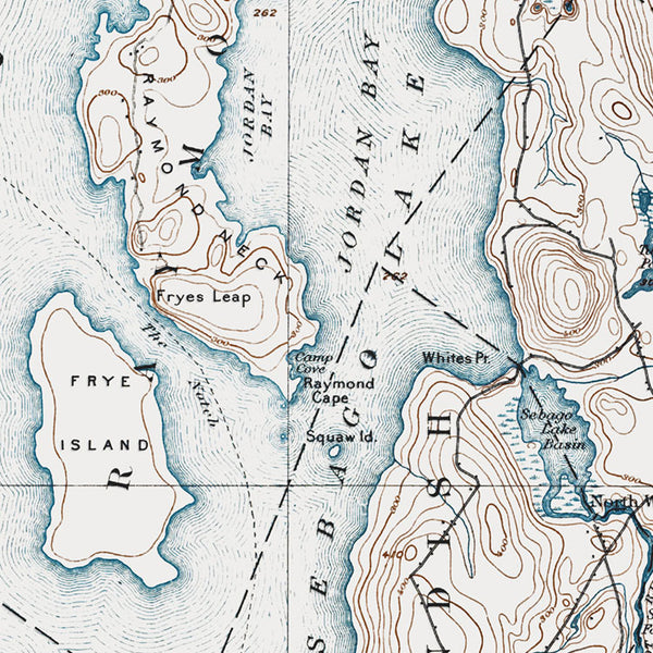 Sebago Lake, ME - 1896 Topographic Map