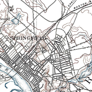 Springfield, MA - 1893 Topographic Map