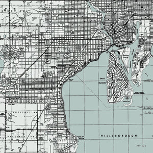 Tampa, FL - 1944 Topographic Map