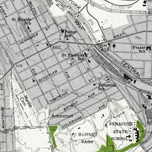 Tipperary Hill Neighborhood, NY - 1957 Topographic Map