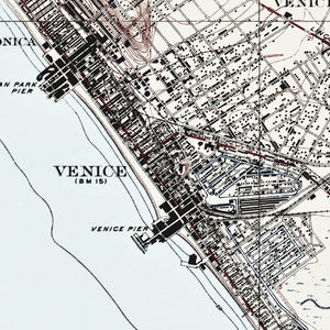 Venice Beach, CA - 1925 Topographic Map