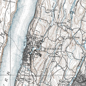 Yonkers, NY - 1891 Topographic Map