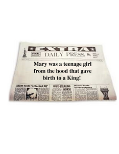 Mary was a teenage mom...