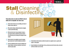 Stall Cleaning & Disinfecting Poster