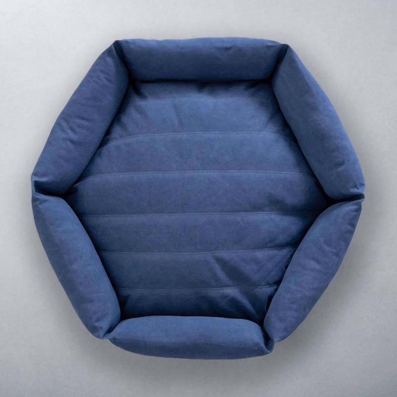 Canvas Hex Dog Bed - Ocean