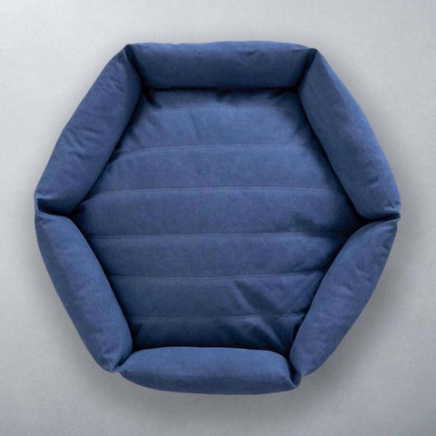 Canvas Hex Cushion - Ocean