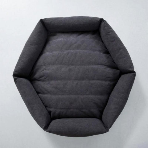 Canvas Hex Dog Bed - Shadow