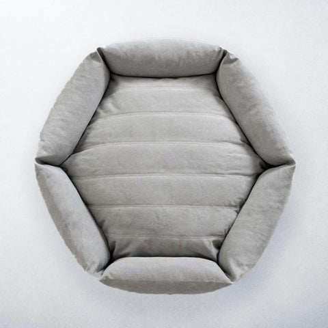 Canvas Hex Cushion - Stone