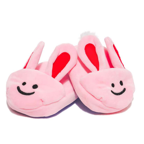 Beeping Bunny Slippers Dog Toy