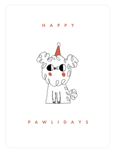 Happy Pawlidays Personalized Holiday Greeting Card