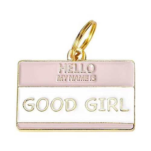 Hello My Name is 'Good Girl' - Enamel Charm/ID Tag