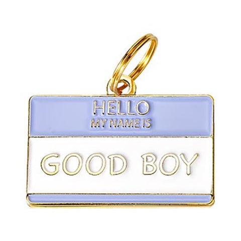 Hello My Name is 'Good Boy' - Enamel Charm/ID Tag