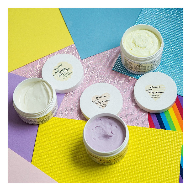 Nacomi body scrubs and butters