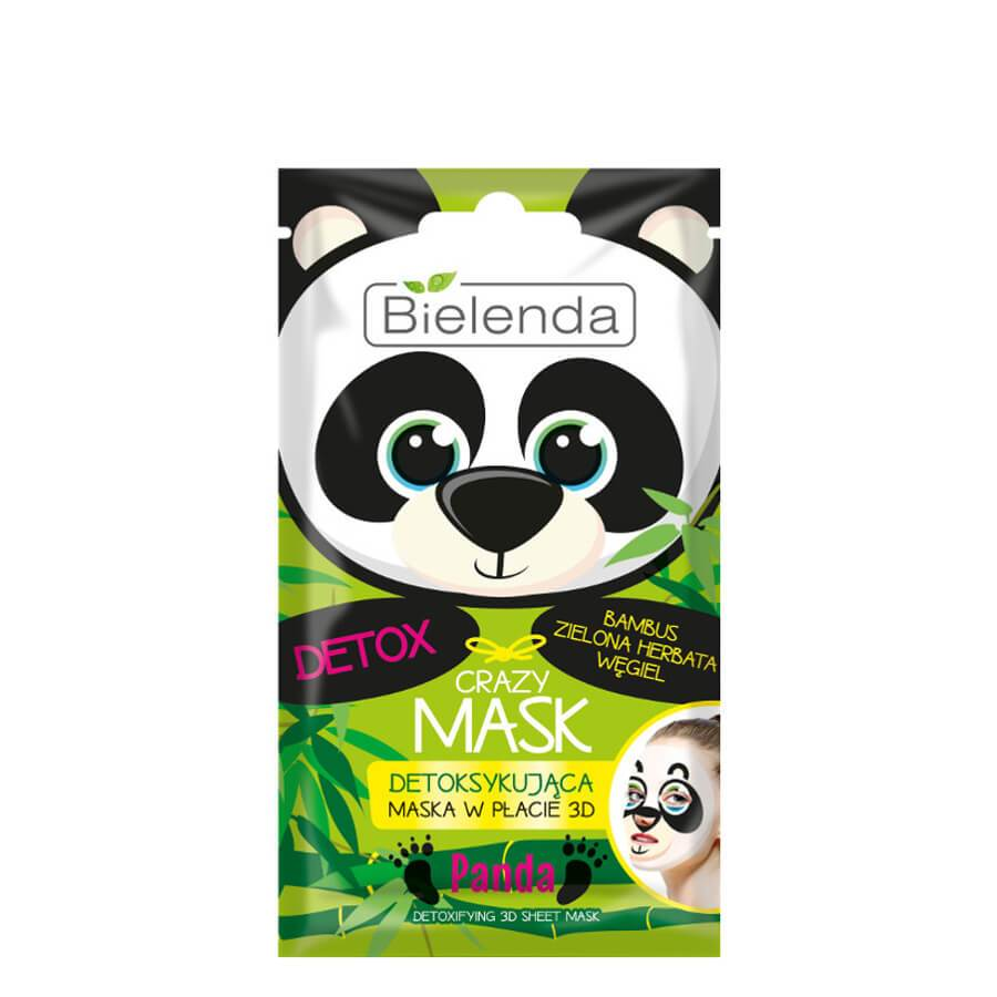 bielenda detoxifying crazy mask panda 3d sheet mask 1pcs