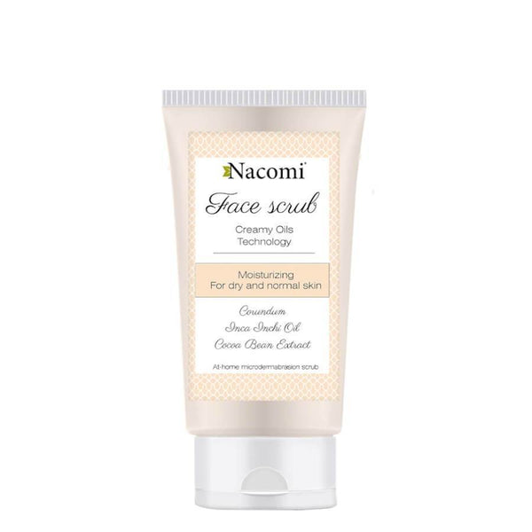 nacomi natural moisturizing face scrub dry and normaln skin 75ml
