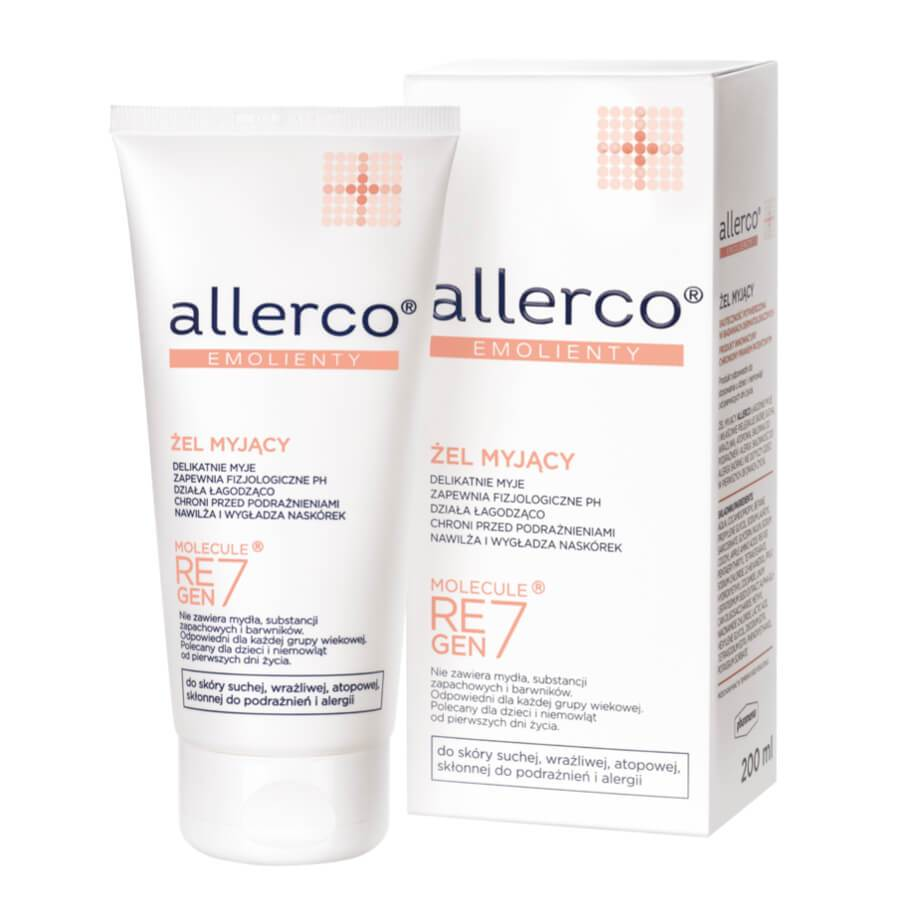 allerco emollients body gel washing care 200ml hypoallergenic