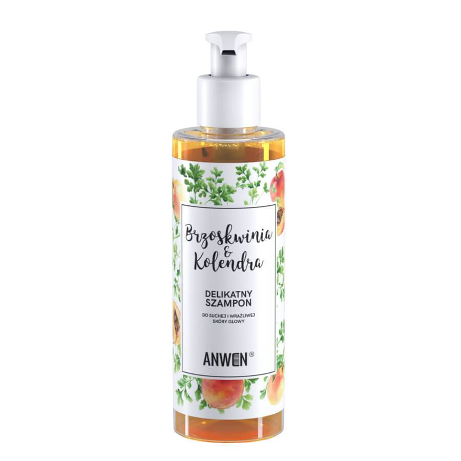 anwen vegan hair shampoo peach and coriander