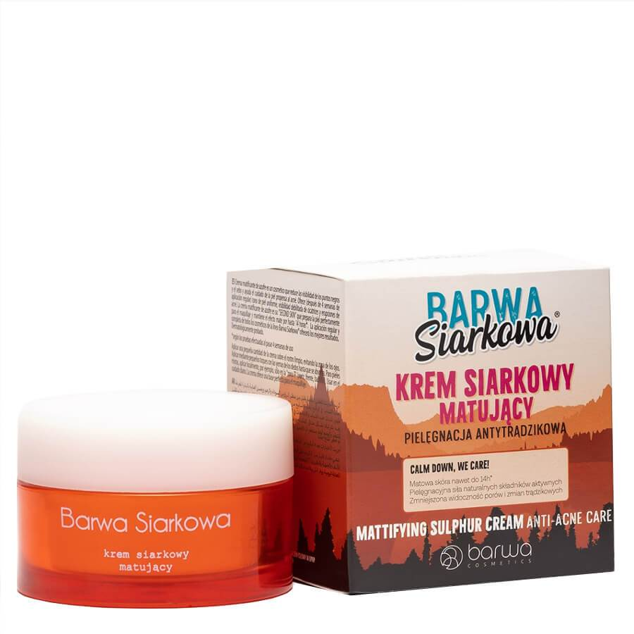 barwa mattifying sulphur face cream anti acne oily skin 50ml