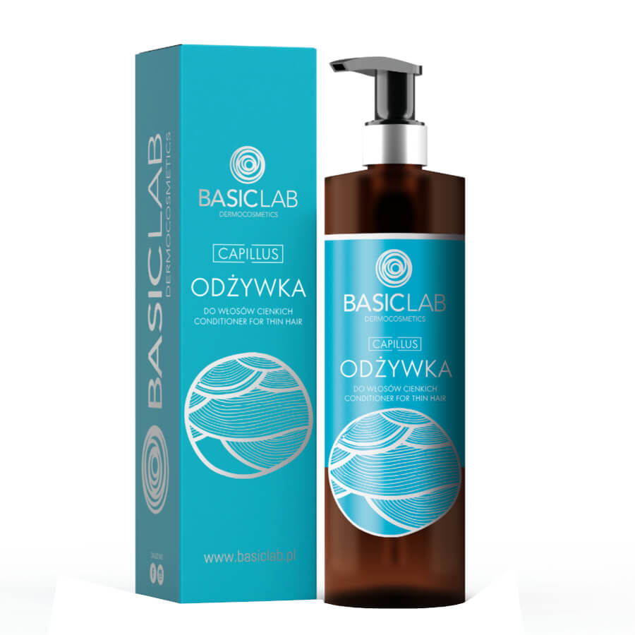 BasicLab Capillus Hair Conditioner for Thin Hair 300ml