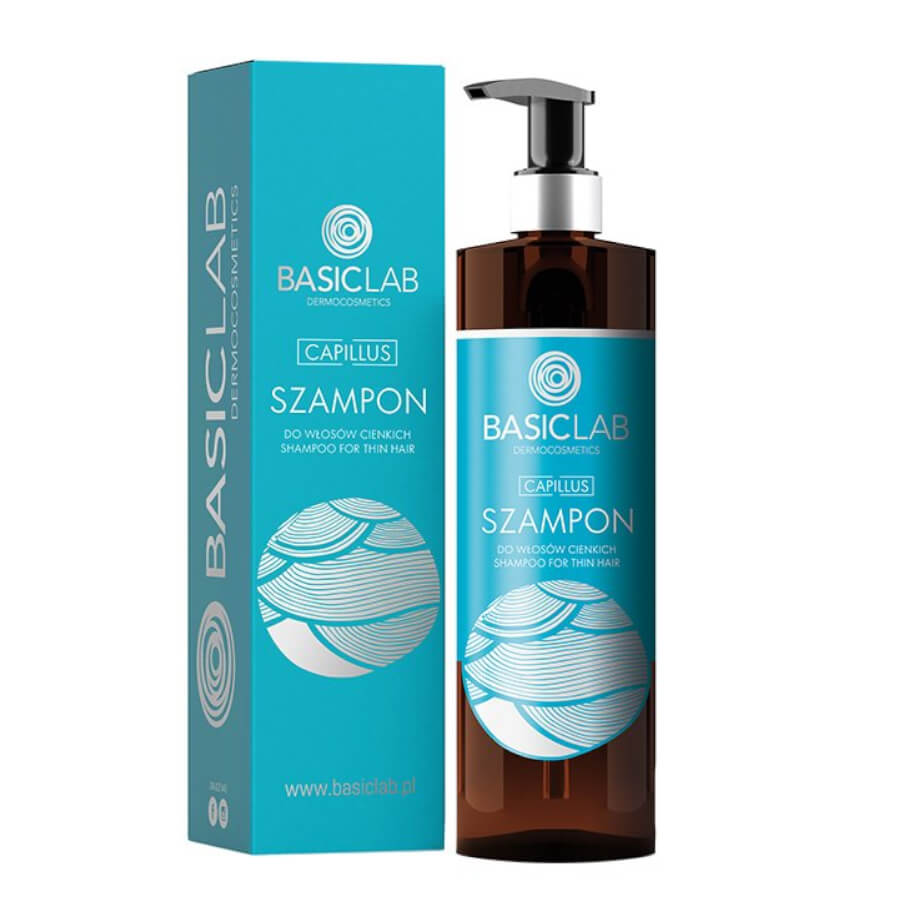 BasicLab Capillus Shampoo for Thin & Damaged Hair 300ml