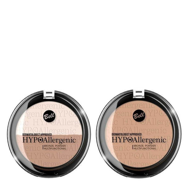 hypoallergenic pressed powder swatch bell cosmetics