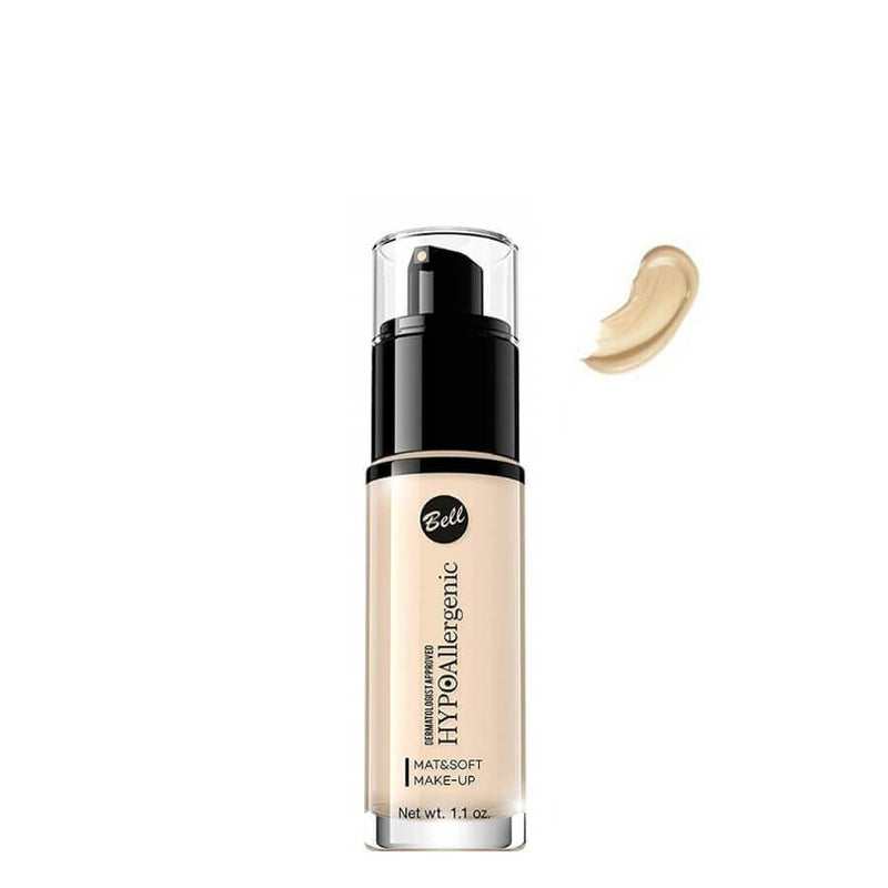 Bell Cosmetics mat and soft foundation 01 light beige