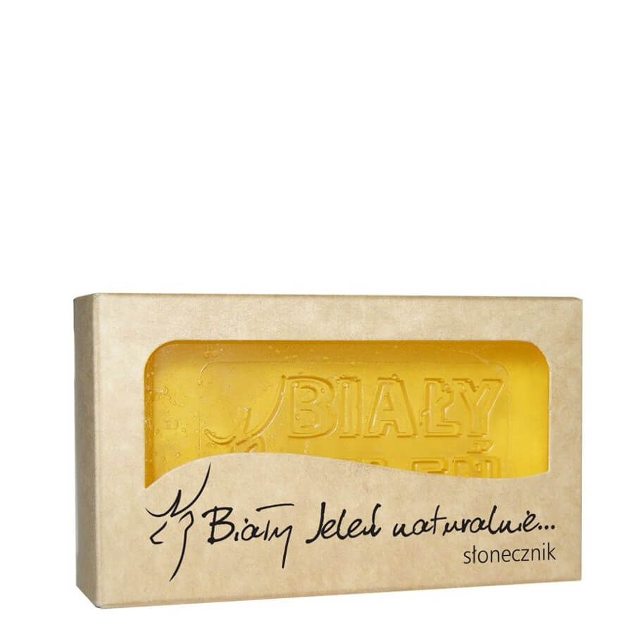 bialy jelen natural glycerin soap bar with sunflower extract 100g