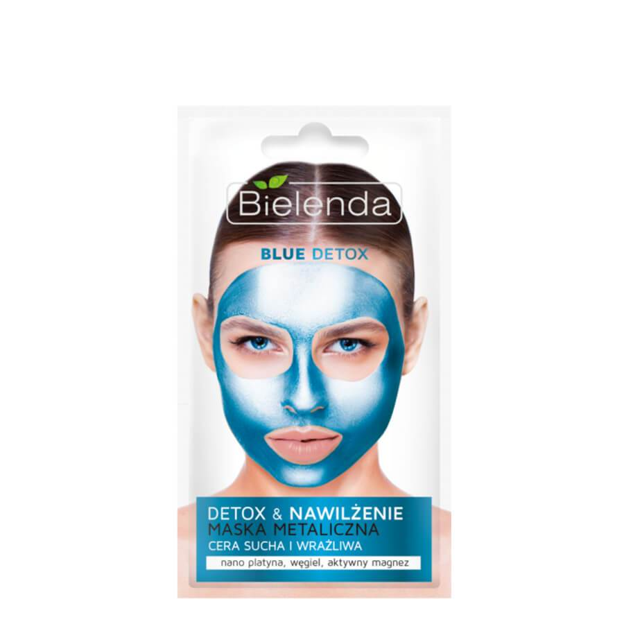 bielenda detoxifying blue metalic face mask