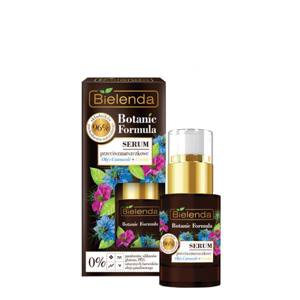 bielenda botanic formula anti wrinkle face serum with black cumin oild and cistus