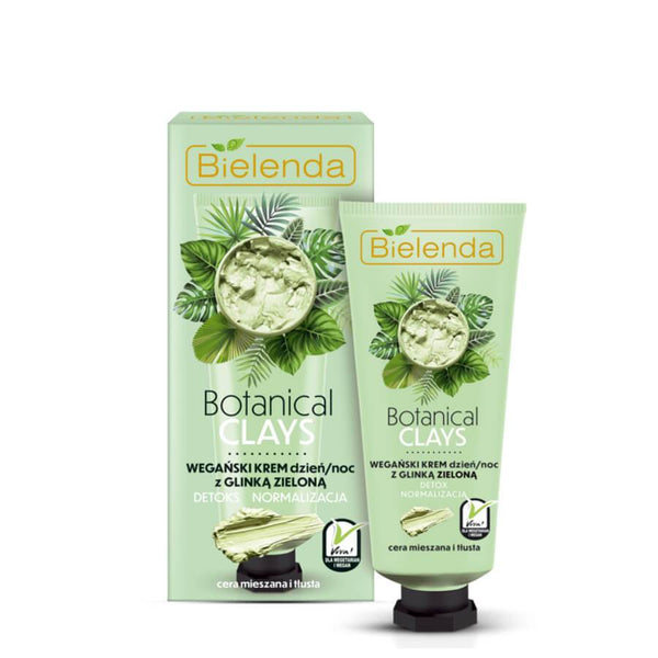 vegan face cream for day and night green clay bielenda