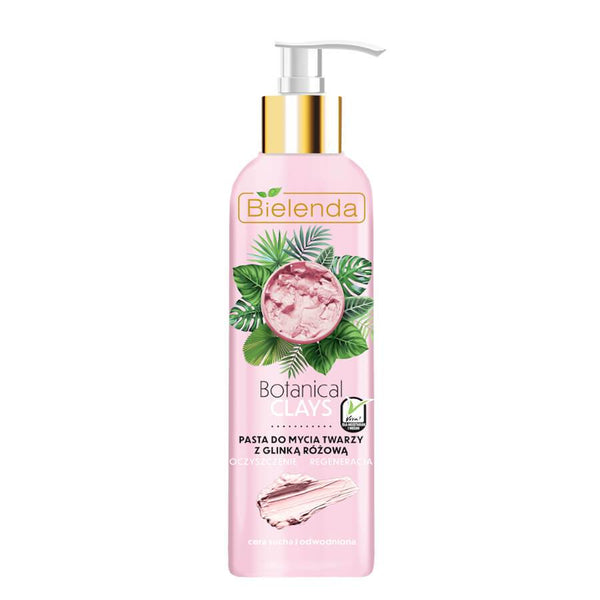 bielenda botanical clays pink clay vegan face washing