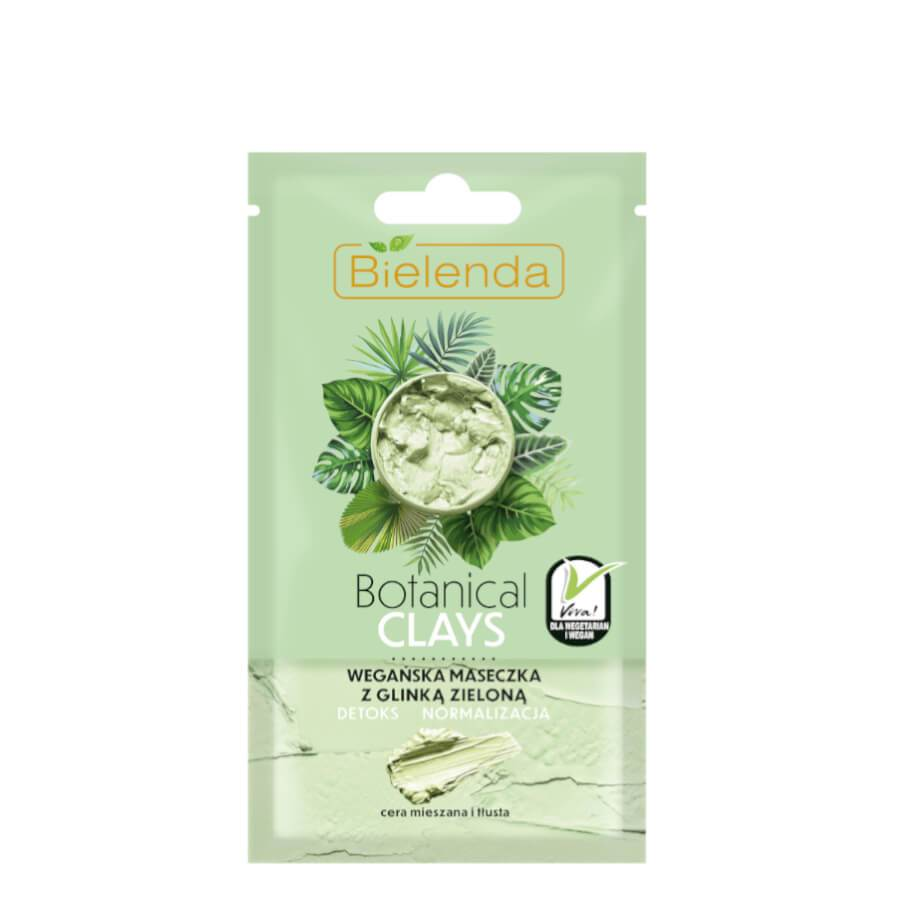 bielenda green clays vegan face mask mixed and oily skin