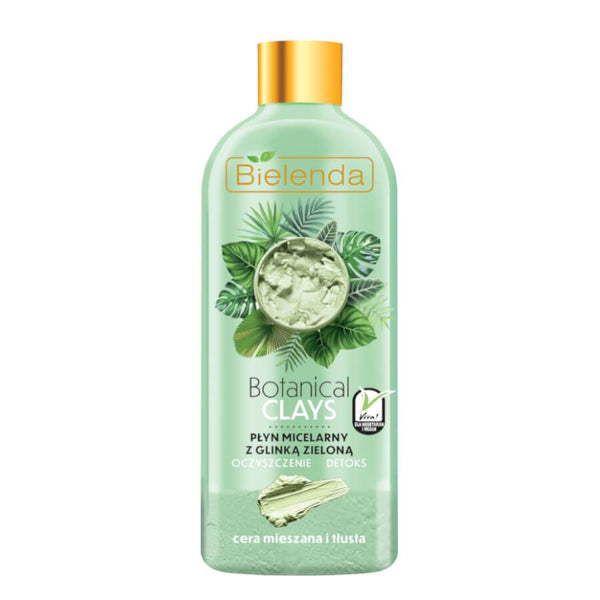 bielenda green clay micellar liquid 500ml mixed and oily skin
